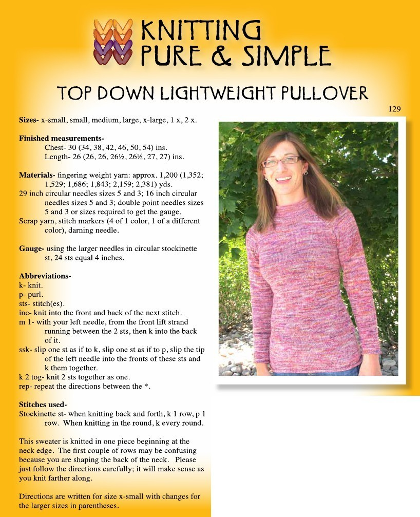 928e4cd9cd 129 lightweight top down pullover 129 lightweight top down pullover  Closeup 129 Knitting pattern 129 1206 2.pdf-1data