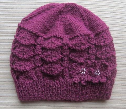 Purple_Hat_in_Shevron_Stitch_with_2_Flowers_1.jpg