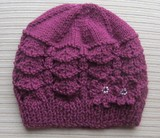 Purple_hat_in_shevron_stitch_with_2_flowers_1