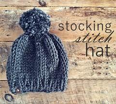 9845871f3fe Img 1451. Dana Eckert Patterns  Stocking Stitch Hat